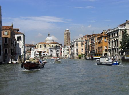 A photograph of the beautiful houses in Venice Italy photo