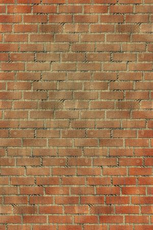An illustration of an old red brick wall illustration