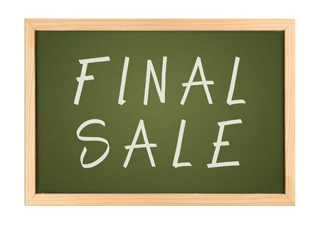 A photography of a small chalk board final sale Stock Photo - 3382619