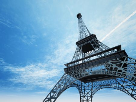 The Eiffel tower in Paris Stock Photo - 3491041