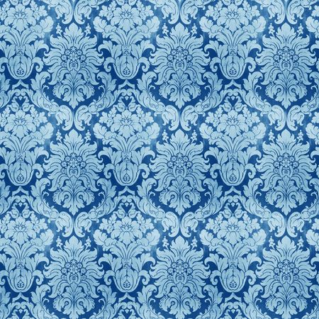 royal: An illustration of an old vintage wallpaper Stock Photo