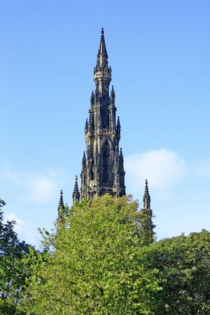 sir walter scott: A photography of the Sir Walter Scott Monument