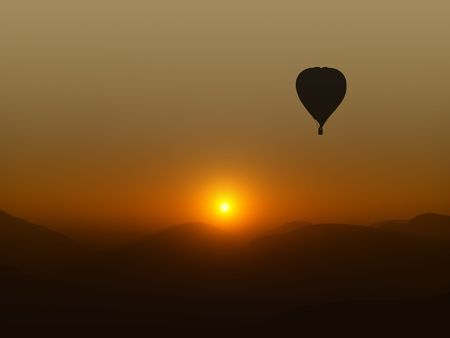 A photography of a hot air balloon photo