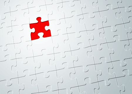 An illustration of a puzzle missing one piece Stock Photo