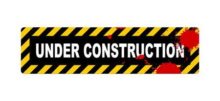 An illustration of an under construction sign Stock Illustration - 3897826