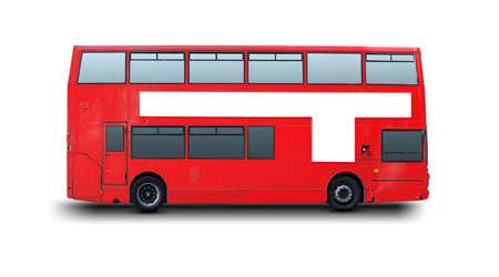 A photography of a red London bus Stock Photo - 3913525