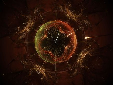 magic hour: An illustration of a magic abstract clock