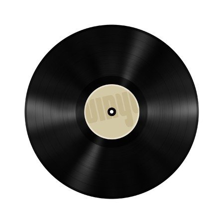 old vinyl record Stock Photo
