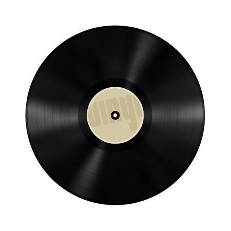 record: old vinyl record Stock Photo