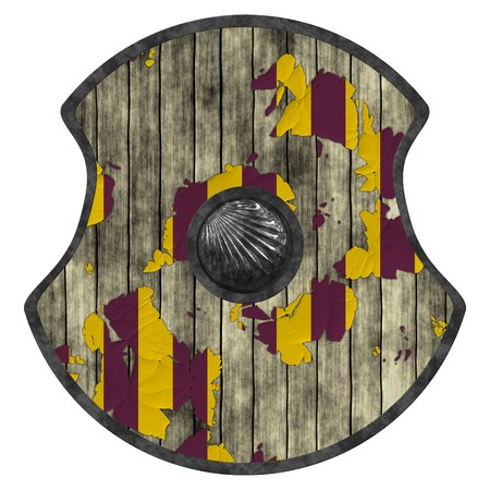 An illustration of a medieval viking shield illustration