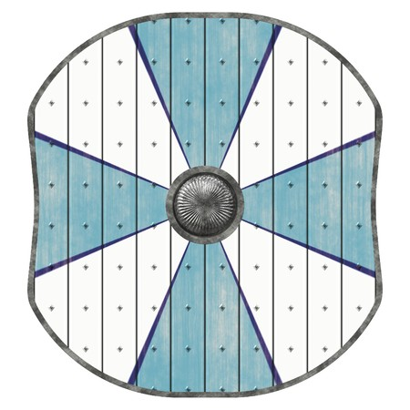iron defense: An illustration of a medieval viking shield