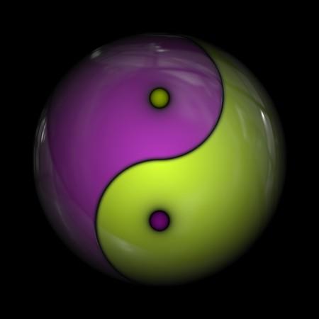 An illustration of a yin yang sign illustration