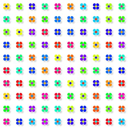 An illustration of some colorful simple flowers illustration