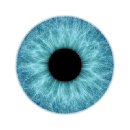 eyes wide: An illustration of a blue isolated iris Stock Photo