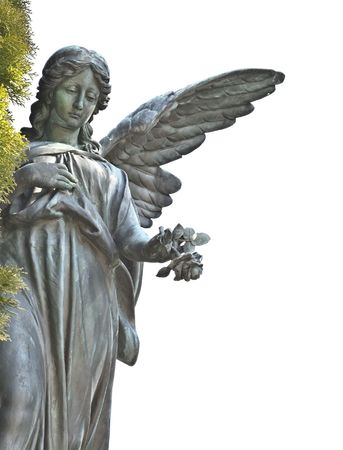A photography of a beautiful sad angel photo