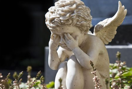 praying angel: A photography of a beautiful sad angel
