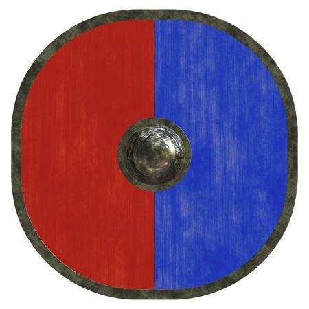 An illustration of a nice viking shield texture illustration