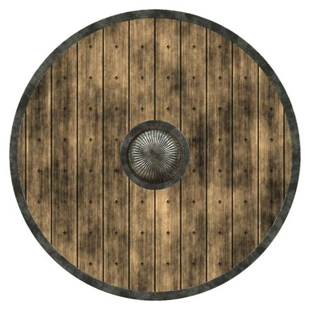 An illustration of a nice viking shield texture Stock Photo