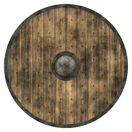 vikingo: Un ejemplo de una textura agradable guliver escudo Foto de archivo