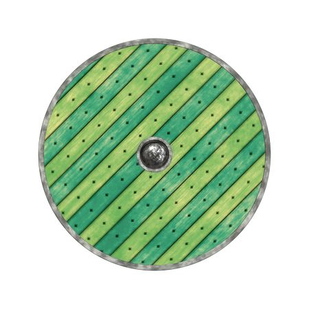 the crusades: An illustration of a nice viking shield texture Stock Photo