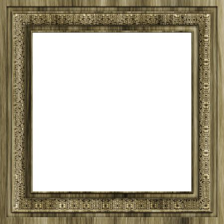 An illustration of a square wooden frame