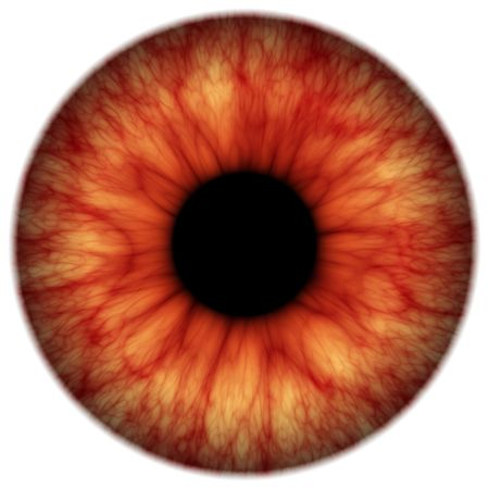 dilated pupils: An illustration of a red spooky iris