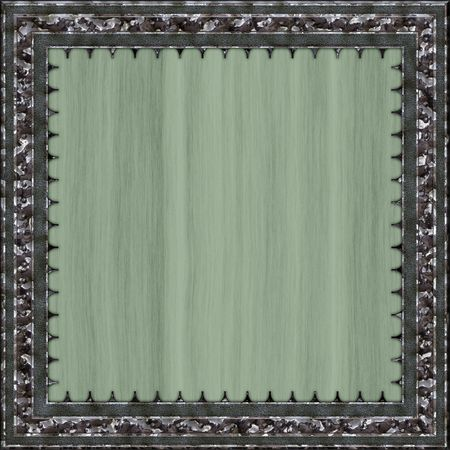 silver picture frame: An illustration of a square metal frame