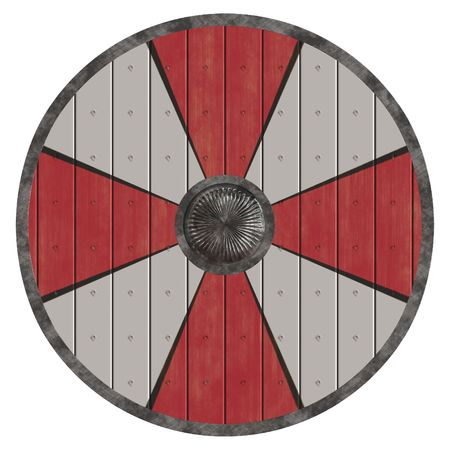 An illustration of an old viking shield