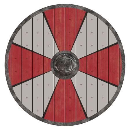 vikingo: Un ejemplo de un antiguo escudo guliver