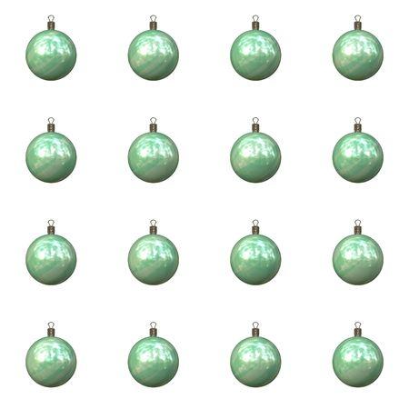 Un ejemplo de 16 bolas de navidad Foto de archivo - 4610113