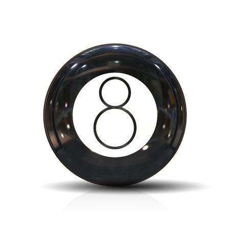 An illustration of a black eight ball Stock Illustration - 4627732
