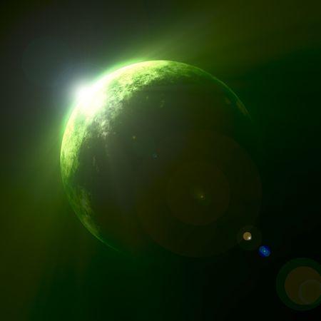green planet: Une illustration d'une belle plan�te verte Banque d'images
