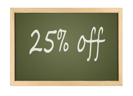 A photography of a small chalk board bargain Stock Photo - 4674337