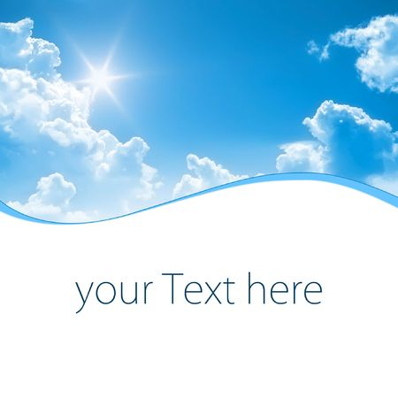 A photography of a blue sunny sky with space for some message