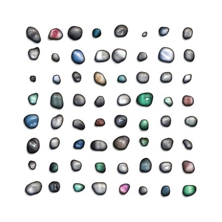 An illustration of 64 different gem stones Stock Illustration - 4724044