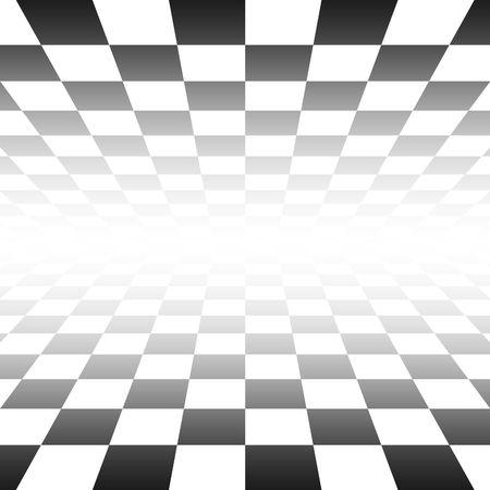 checker board: Un ejemplo de Blach un tablero de ajedrez en blanco y perspectiva