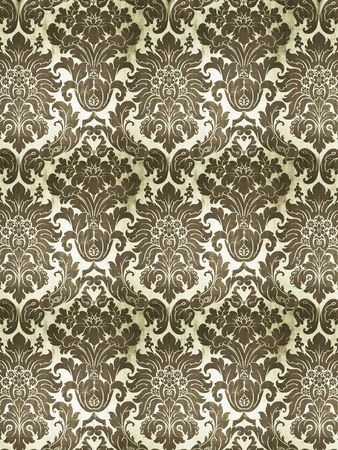 A photography of an old silk wallpaper Stock Photo