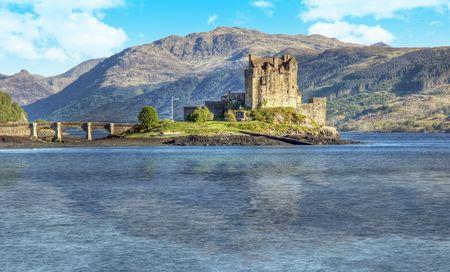 A photography of the Eilean Donan Castle in Scotland photo