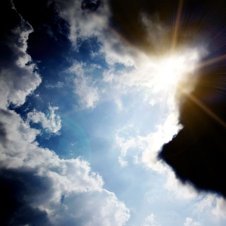 dark sky with sun Stock Photo - 4917741