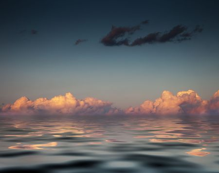 dawn light over the sea Stock Photo - 4917743