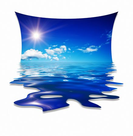 blue sky water design Stock Photo - 4946723