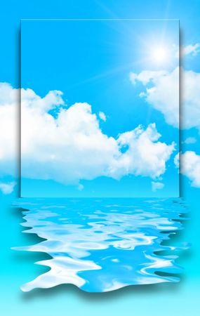 blue sky water design Stock Photo - 4946725