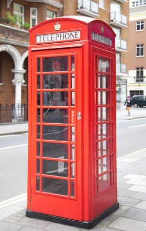 A photography of a red phone box in London UK photo