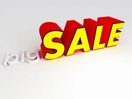 An illustration of a big sale render Stock Illustration - 5079202