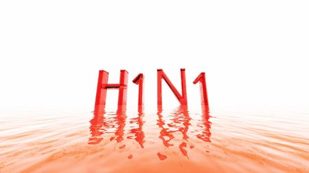 incubation: An illustration of the letters H1N1 for swine flu