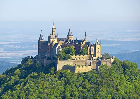 turrets: A photography of the beautiful castle Hohenzollern in Germany