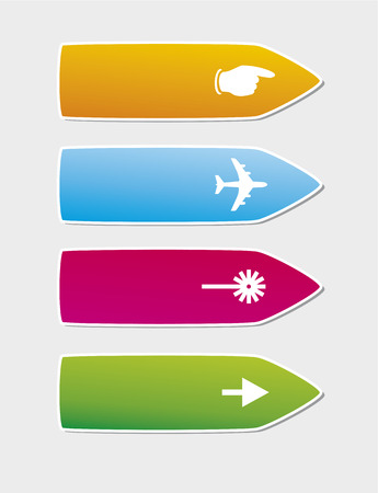 A vector illustration of 4 colorful arrows Stock Vector - 5540660