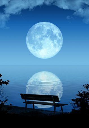 An illustration of a nice full moon illustration