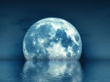 An illustration of a nice full moon Stock Illustration - 5569637