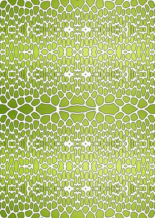 An illustration of a nice green snake texture illustration